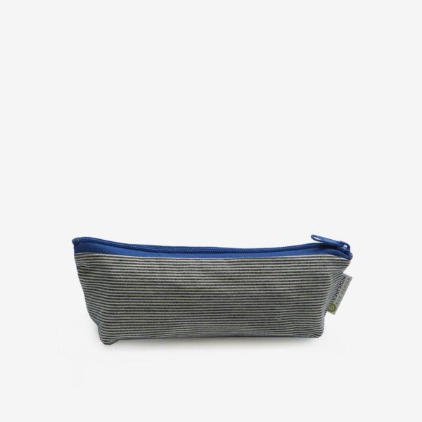Trousse écolier en chute de toile en jean