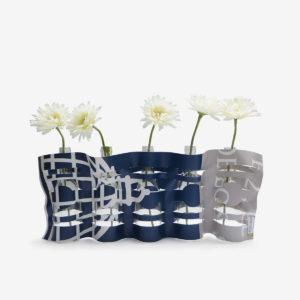 vase en bache publicitaire recyclee bicolore reversible upcycling