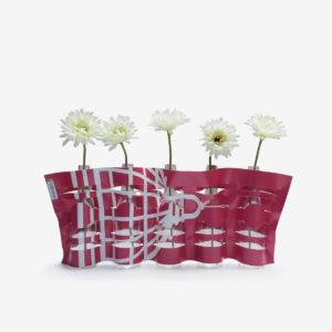 vase en bache publicitaire recyclee rose fushia reversible upcycling