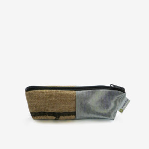 02 trousse en toile recyclee reversible upcycling
