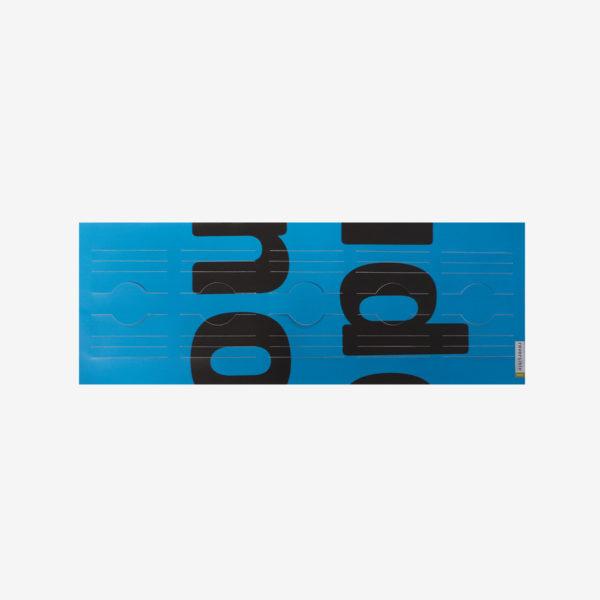 vase à plat en bache publicitaire bleue clair recyclee reversible upcycling