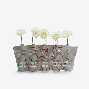 vase en bache publicitaire beige recyclee reversible upcycling