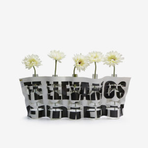 vase en bache publicitaire typo recyclee reversible upcycling