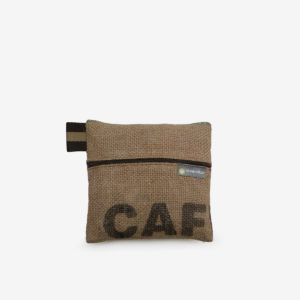 14 trousse en toile de sac de transport de cafe reversible upcycling