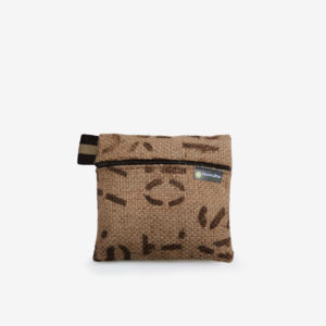 13 trousse en toile de sac de transport de cafe reversible upcycling