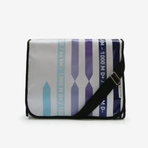 16 sac en bache rayures bleues reversible eco-design