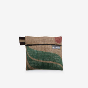 12 trousse en toile de sac de transport de cafe reversible upcycling
