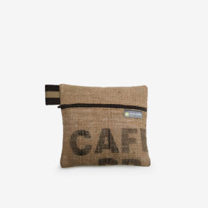 10 trousse en toile de sac de transport de cafe reversible upcycling