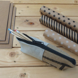 trousse upcycling reversible eco design toile recycle