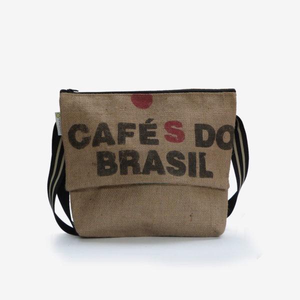 Besace toile de jute sac de café du Brésil