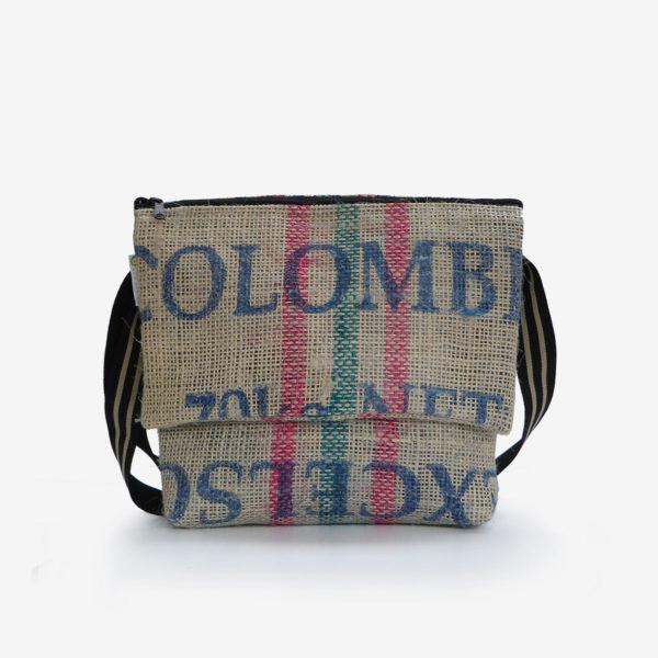 Besace toile de jute sac de café de Colombie