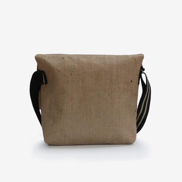 dos besace toile de jute  sac de cafe reversible upcycling
