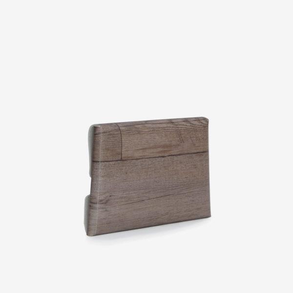 housse ordinateur bois gris reversible eco design