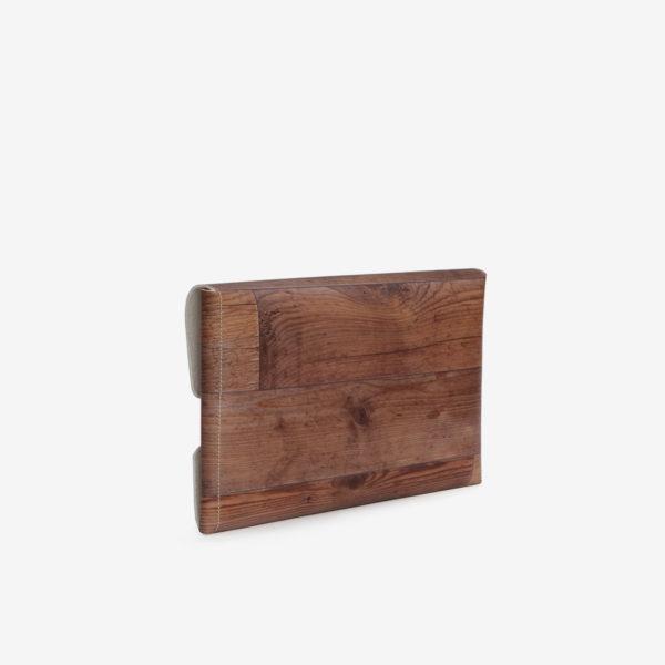 dos housse ordinateur bois roux reversible eco design