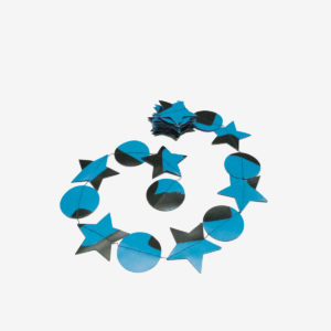 guirlande bleue en bâche publicitaire recyclée