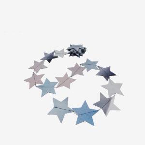 guirlande étoiles bleues en bâche publicitaire recyclée