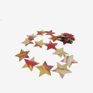 Guirlande étoiles orangées en bache publicitaire recyclée