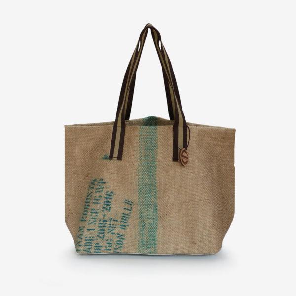 Cabas en toile de sac de café