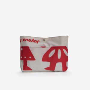 5 trousse pochette en toile publicitaire blanche et rouge