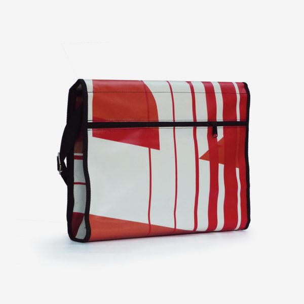 9bis upcycling sac en bache publicitaire rouge reversible