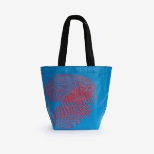 sac cabas en bâche d'exposition bleue