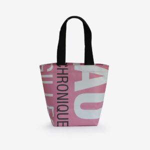 sac cabas bâche publicitaire lettres roses