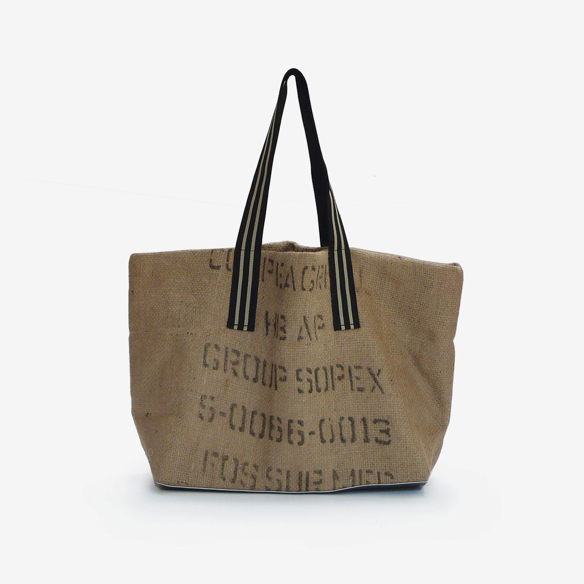 cabas en toile de sacs de caf upcycling made in france. Black Bedroom Furniture Sets. Home Design Ideas