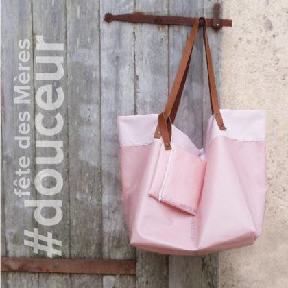 sac cabas rose spécial fête des meres