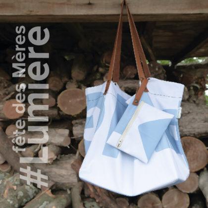 sac cabas en toile publicitaire blanche