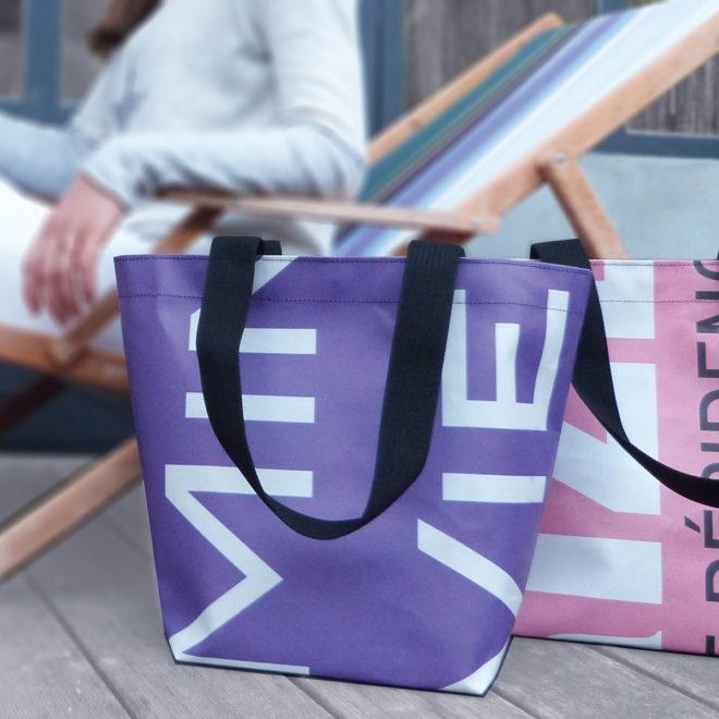 sac cabas en bâche publicitaire