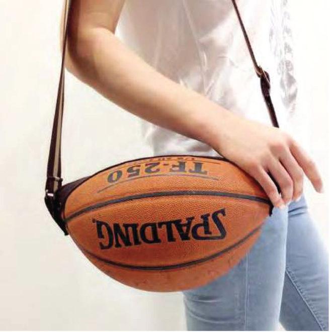 sac en ballon de basket en cuir