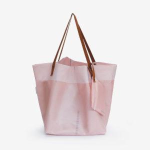 sac cabas en toile d'airbag rose