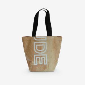 sac cabas en bâche publicitaire beige