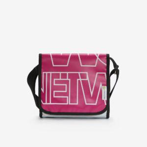 sac besace en bâche publicitaire rose