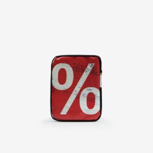 Housse ipad rouge en bâche publicitaire recyclée