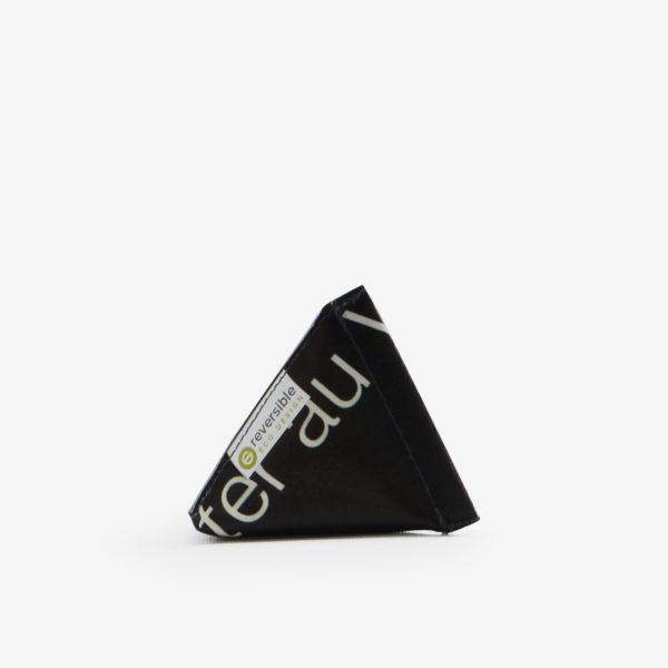 porte monnaie en bâche publicitaire recyclée noire.