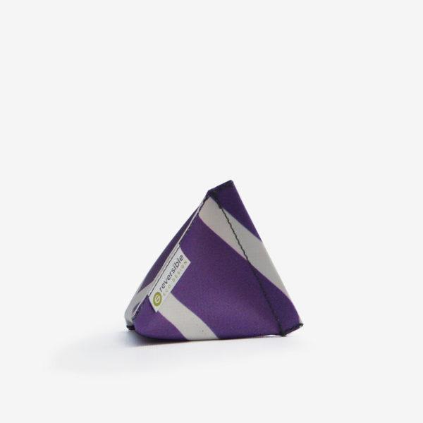 Porte monnaie en bâche publicitaire recyclée violette