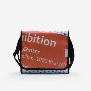 sac en bâche publicitaire recyclée orange