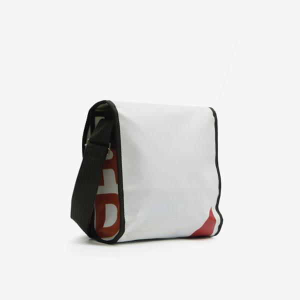 dos sac en bâche publicitaire recyclée blanche