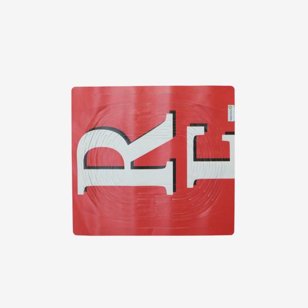 sac filet rouge en bâche publicitaire recyclée