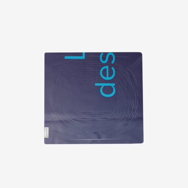 sac filet bleu en bâche publicitaire recyclée