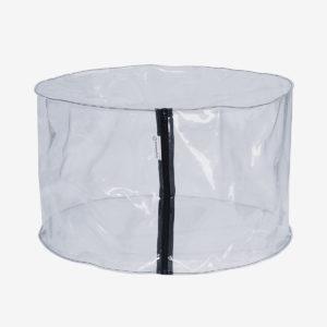 pouf rond transparent à remplir soi même.