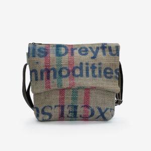 Besace en sac de toile de café Dreyfus.