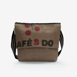 Besace en sac de toile de café du Brésil.
