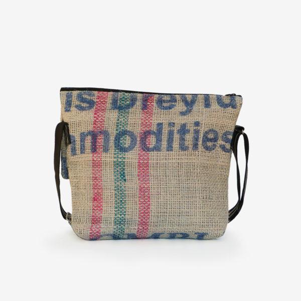 03dos sac besace en toile de jute issu des sacs de transport de café.