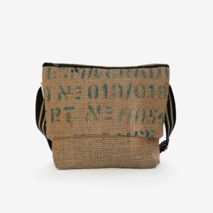 04 sac besace en toile de jute issu des sacs de transport de café.