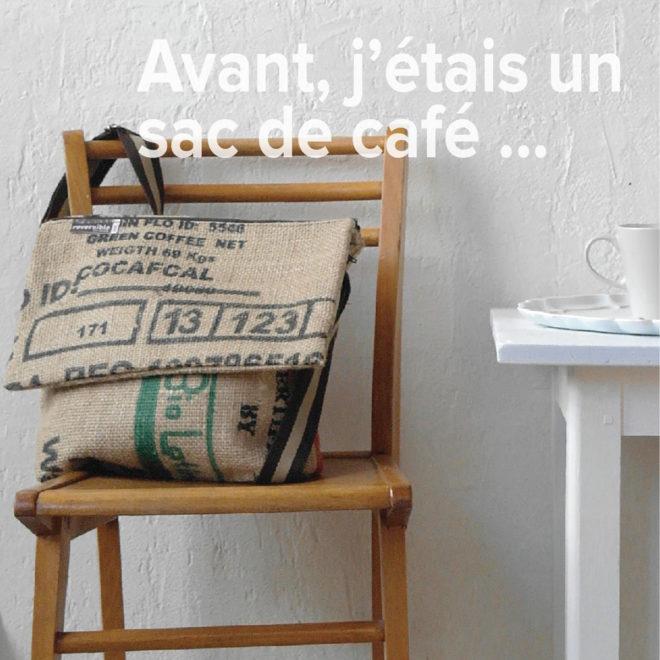 sac en toile de sac de café.