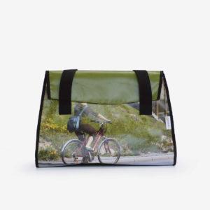 02 Sac en bâche publicitaire recyclée image nature et vélo