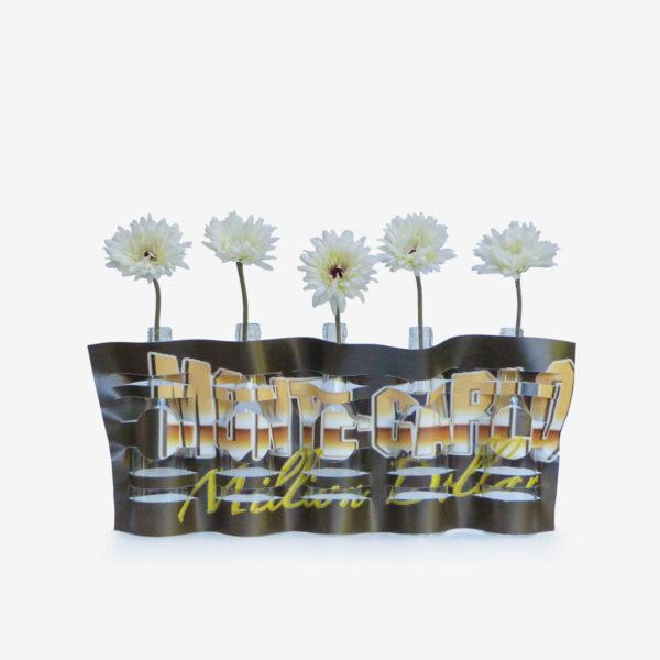 vase modulable Montecarlo en bâche publicitaire recyclée.