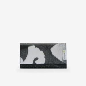 Portefeuille en bâche publicitaire noir et blanche